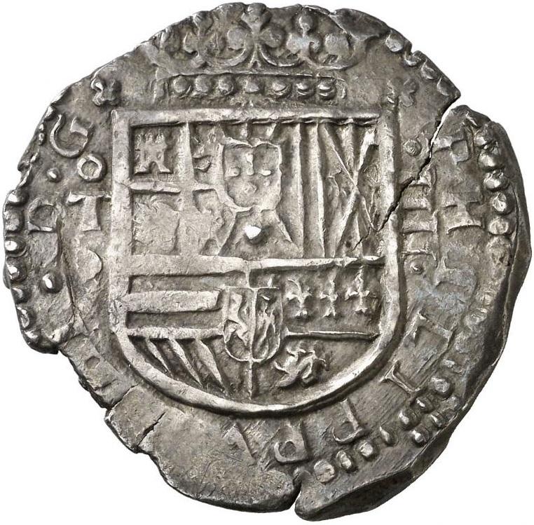 1615. FELIPE III. TOLEDO. V. 4 REALES. 13,23 G. PRECIOSA PÁTINA. BELLA. RARA Y MÁS ASÍ.