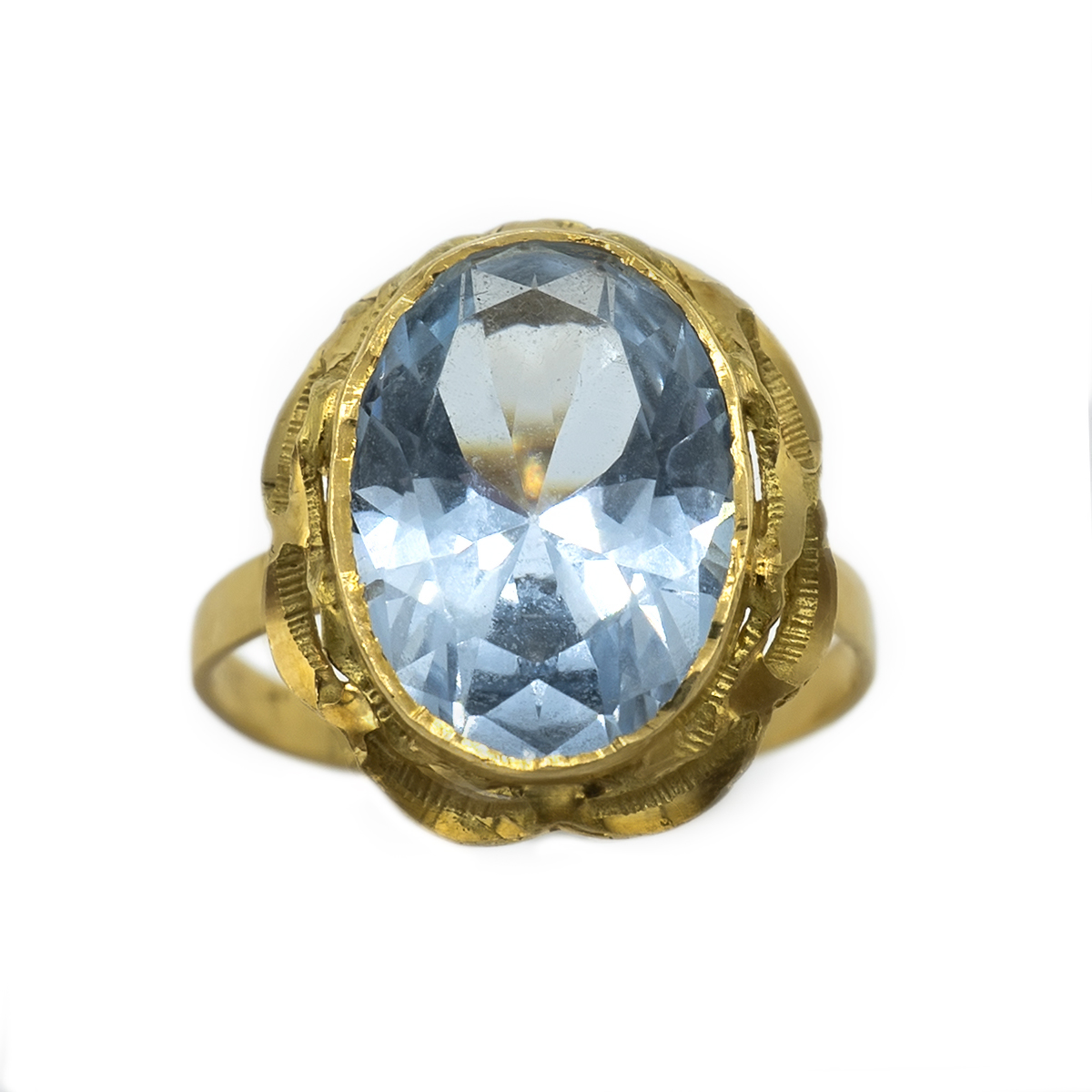 Retro Quartz Ring. Years 60.