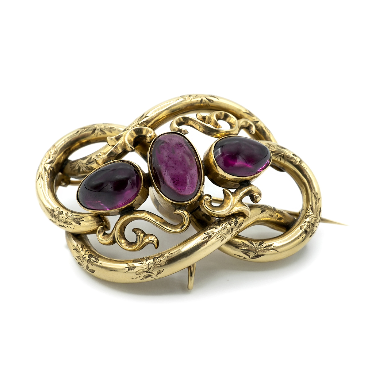 Big Brooch Of Gold And Garnets. H.1860.