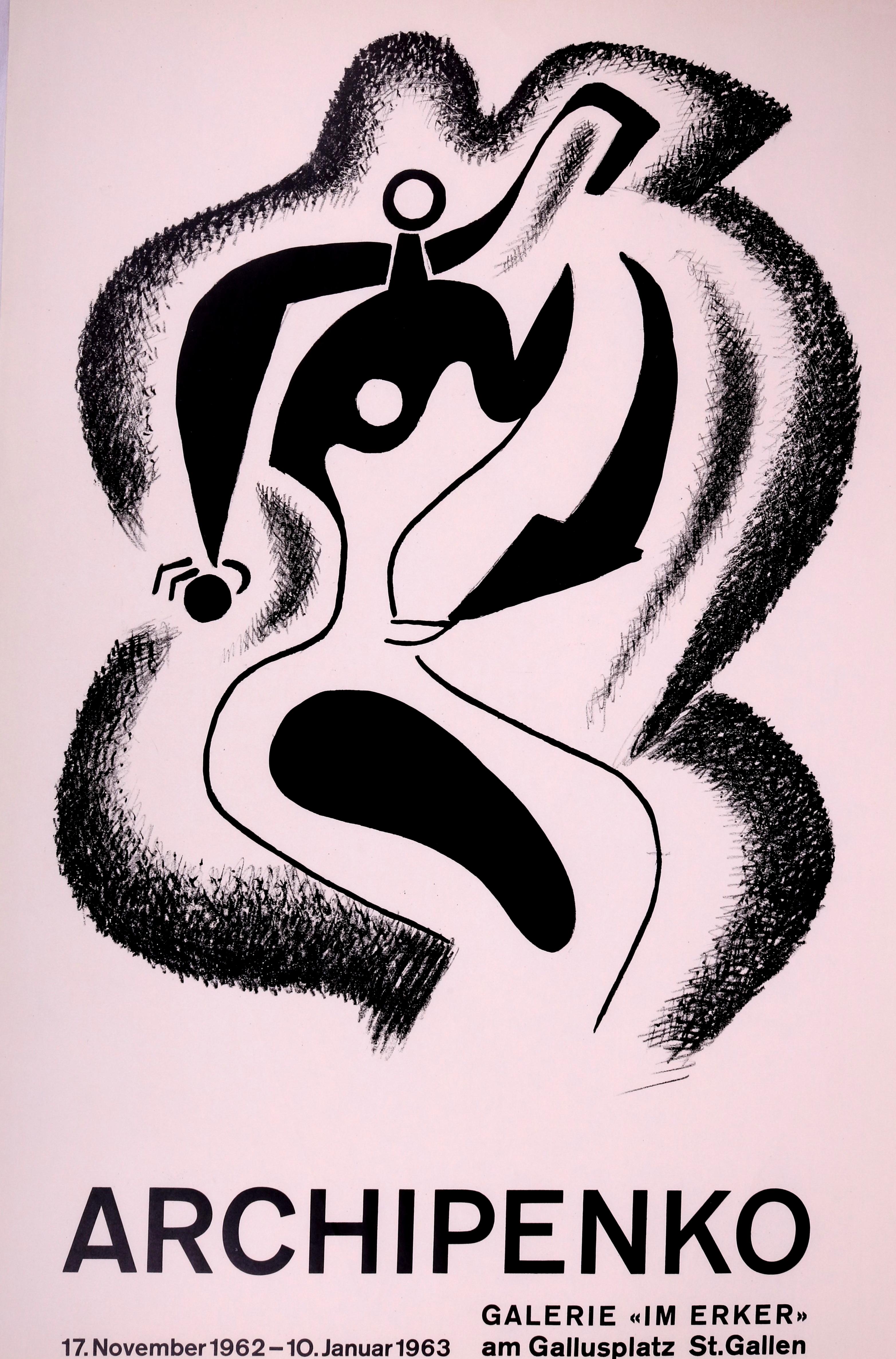 Cartel Para La Exposición De La Galería Erker De Alexander Archipenko (1962)