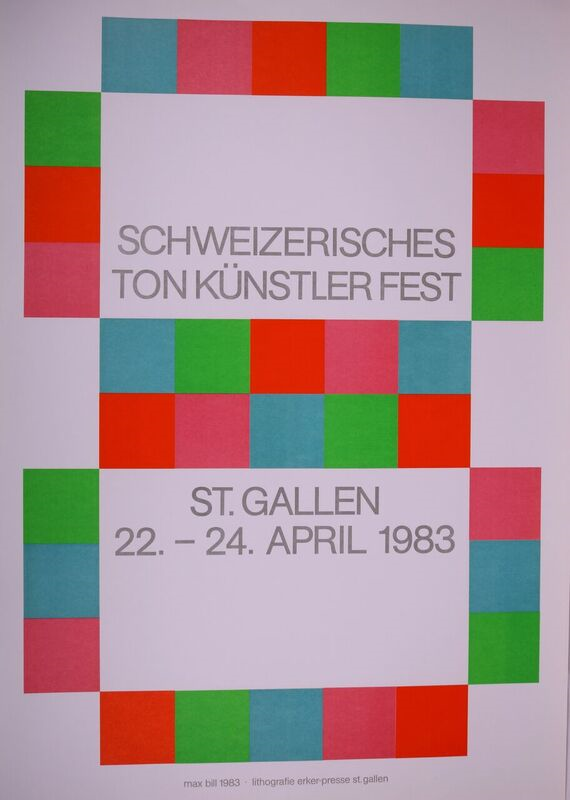 Poster For The Exhibition Schweizerisches Tonkünstlerfest In St. Gallen, 1983. Max Bill.