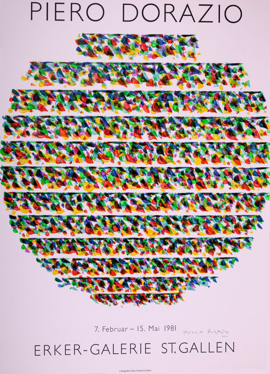 Cartel Para La Exposición De La Galería Erker, 1981. Piero Dorazio.
