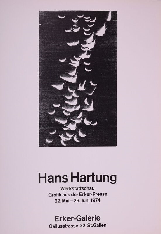 Poster For The Erker Gallery Exhibition, 1974. Hans Hartung.