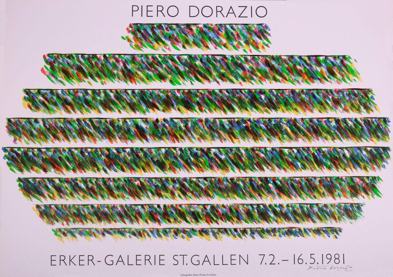 Poster For The Erker Gallery Exhibition, 1981. Piero Dorazio.
