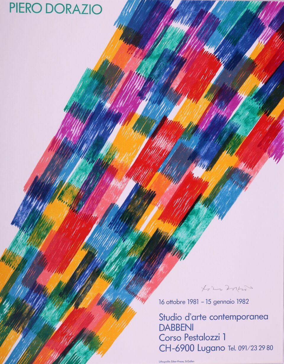 Cartel Para La Exposición De Studio D'arte Contemporanea, 1981. Piero Dorazio.