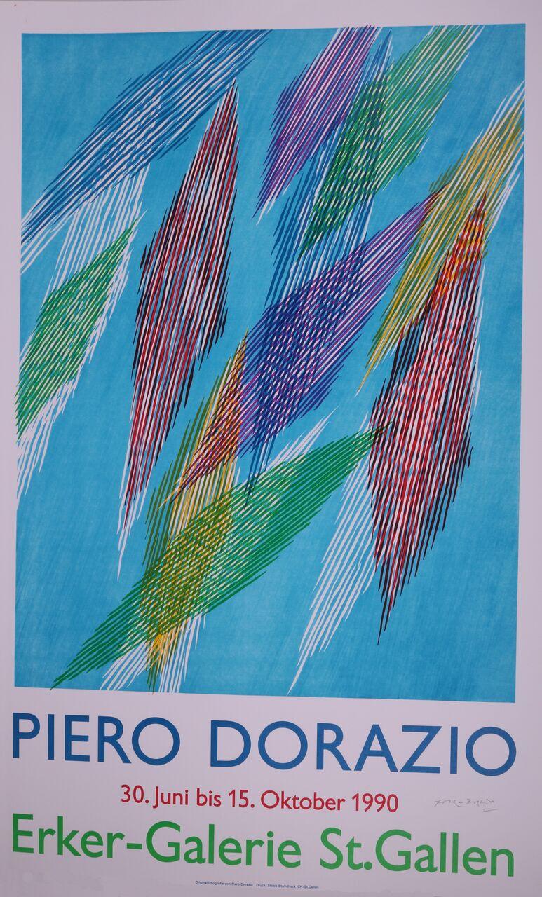 Poster For The Erker Gallery Exhibition, 1990. Piero Dorazio.